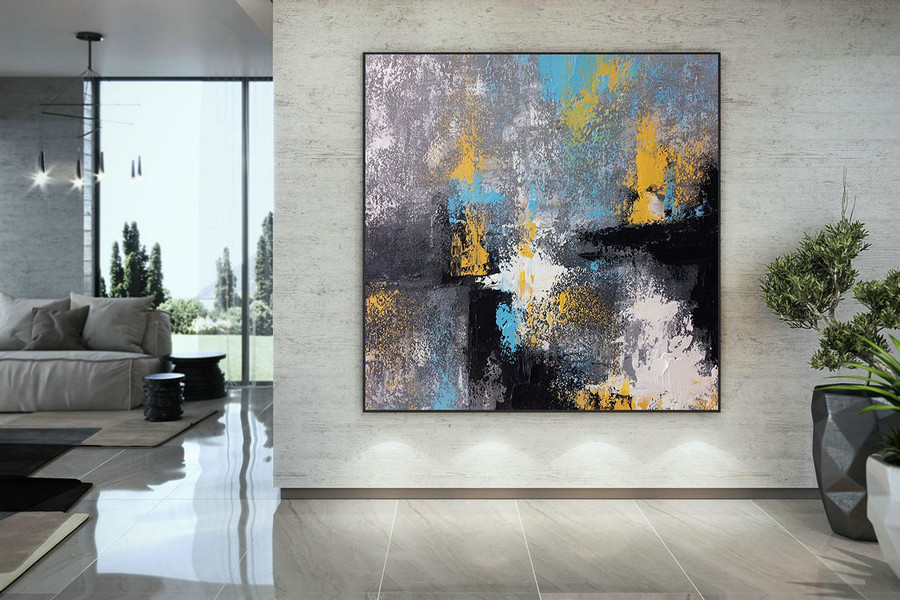 Large Painting On Canvas,Original Painting On Canvas,Original Painting,Abstract Painting,Painting On Canvas,Abstract Texture Art Dmc127,Large Oversized Wall Art