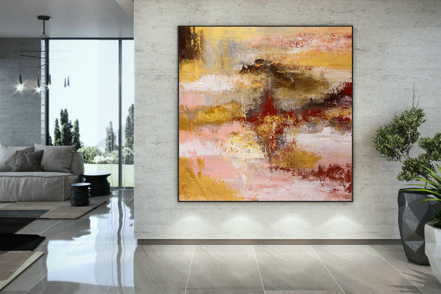 Extra Large Wall Art Original Art Bright Abstract Original Painting On Canvas Extra Large Artwork Contemporary Art Modern Home Decor Dmc107,Long Wall Canvas