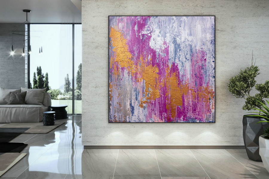 Large Abstract Painting,Original Painting Large Paintings,Above Bed Decor,Oil Hand Painting,Large Interior Decor Dac044,Fine Art Canvas