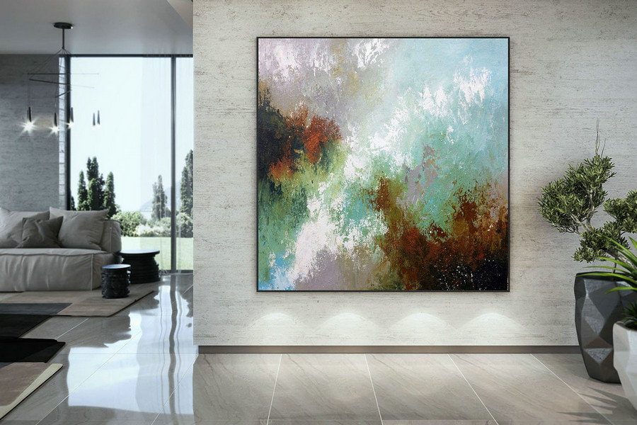 Large Abstract Painting,Modern Abstract Painting,Bright Painting Art,Knife Oil Painting,Abstract Painting,Acrylic Textured Dac007,Large Modern Canvas
