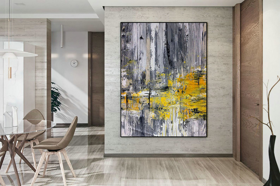 Large Abstract Painting,Modern Abstract Painting,Oil Hand Painting,Oil Knife Painting,Xl Abstract Painting,Textured Art Dac018,Large Bedroom Canvas