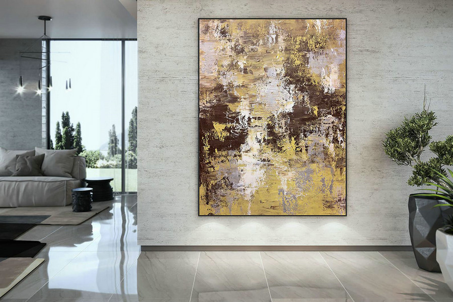 Large Abstract Painting,Modern Abstract Painting,Acrylics Paintings,Abstract Paintings,Abstract Painting,Acrylic Textured Dac030,4 Piece Canvas Wall Art