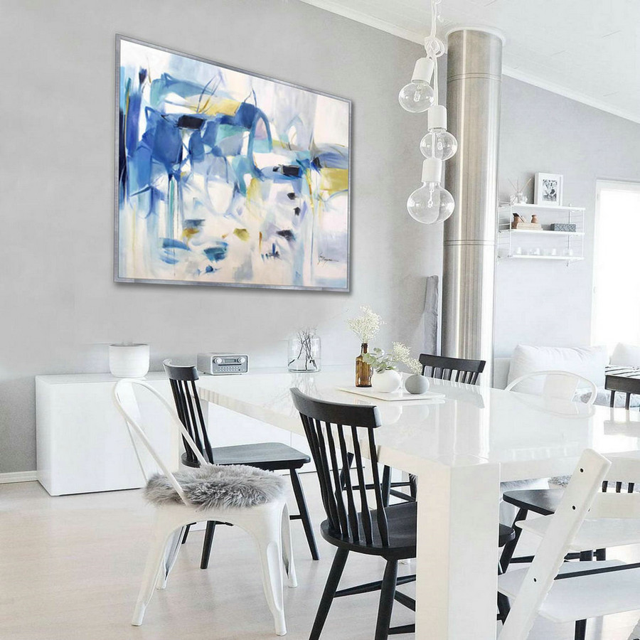 Soft Color Abstract Soft Tones Light Color Pastel Feminine Large Modern Oil Painting Canvas Bed Dining Living Room Office Wall Art,Large Canvasses
