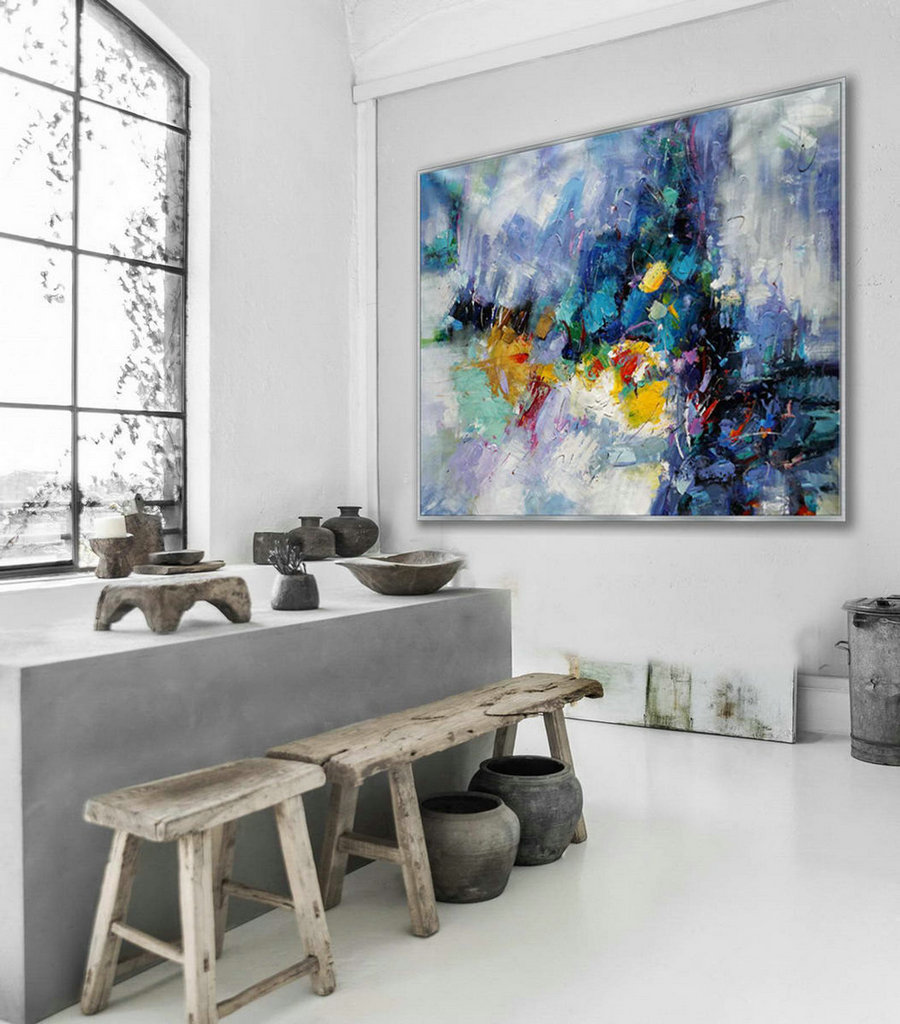 Contemporary Abstract Wall Art Hand Painted Modern Painting Super Large Oversize Acrylic Canvas Art 60X80Inch / 150X200Cm,Art Onto Canvas